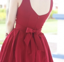 Sukienka, Red, Bow, Ribbon, Style, Moda