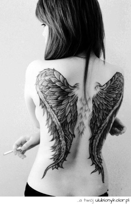 Obrazek Tatuaż Black Wolność Doda Skrzydła Anioł Zdjęcia I