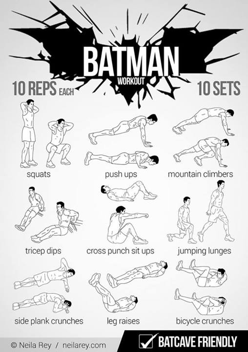 Batman,Workout,Batcave friendly,Cool